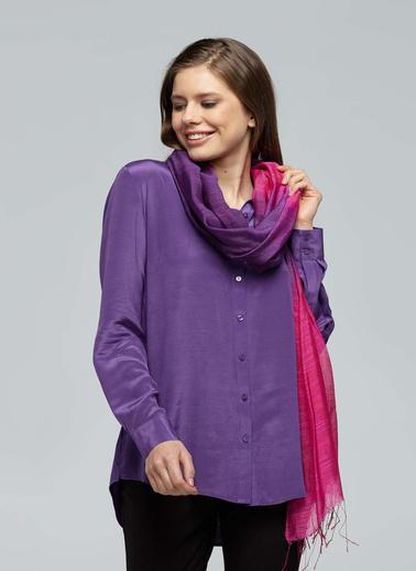 Silk and Cashmere Fular Fuşya